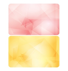 Rosy and yellow backgrounds for cards - abstract vector
