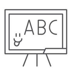 School blackboard thin line icon school and vector