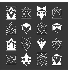 Set of trendy geometric shapes Religion philosophy vector
