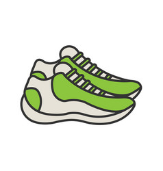 Sneakers color icon vector