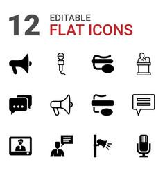 speak icons vector image