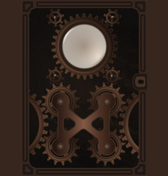steampunk book cover template vector image