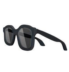 Sunglasses side view vector