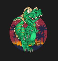 t rex cute dinosaur graphic vector image