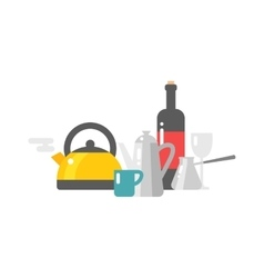 Tea and coffee set vector image