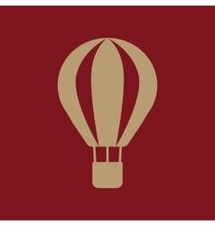 The air balloon icon Aerostat symbol Flat vector