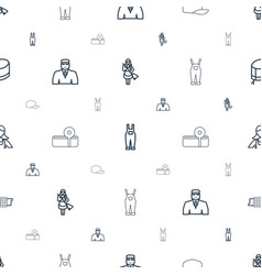 Uniform icons pattern seamless white background vector