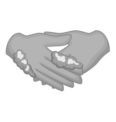 washing hands icon monochrome vector image