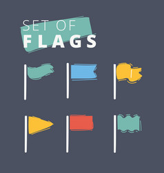 waving flags icon vector image