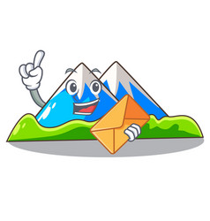With envelope miniature mountain in the character vector