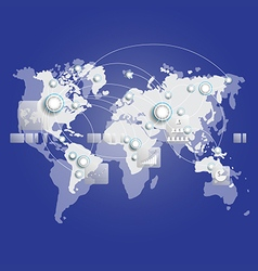 World map connection business concept vector