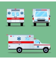 Ambulance Emergency Icon Back Front Side View vector image vector image