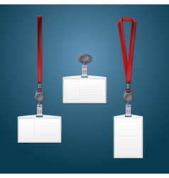 Lanyard retractor and badge templates vector image