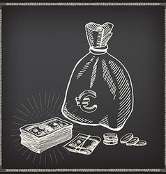 Money icon sketch design vector image vector image