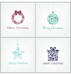 Perfect Christmas design for greetings card with w vector image vector image
