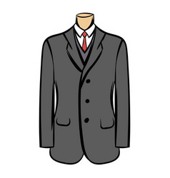 wedding jacket comic icon vector image