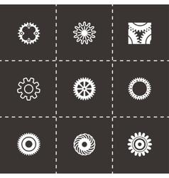 Gear icon set vector image