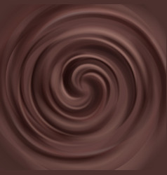 liquid chocolate swirl background vector image