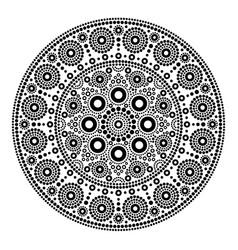 mandala dot painting style aboriginal folk vector image