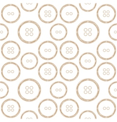 Pattern of Stylized Copper Wire Buttons vector image