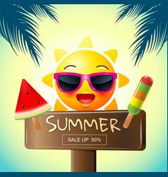 summer sale template design vector image vector image
