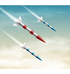 Three rockets vector image vector image
