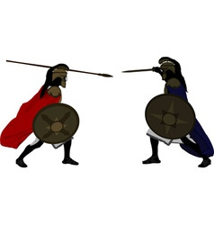 Achilles and Hector vector image vector image