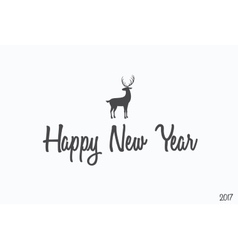 Happy New Year lettering typography Handwriting vector image