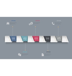 Infographics Options Paper Banners vector image vector image