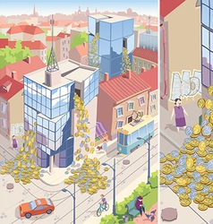 Money Rain vector image vector image