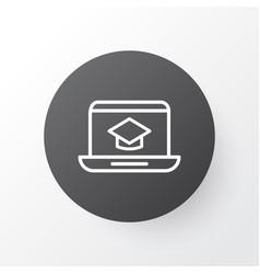 online education icon symbol premium quality vector image