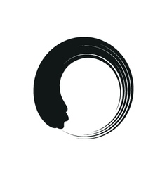Zen enso circles in modern minimalist style vector image