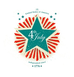 4 july card vector image vector image