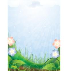 Bright sunny landscape vector image