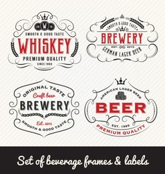 Classic Vintage Beverage Frame and Labels Design vector image vector image