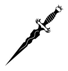 dagger tattoo vector image vector image
