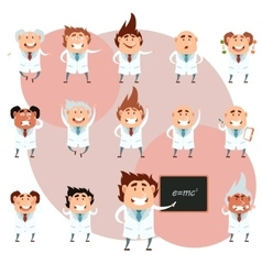 Set of scientists1 vector image