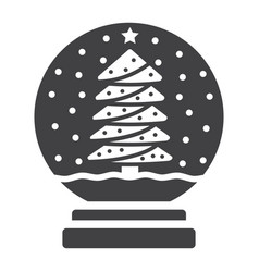 snow globe glyph icon new year and christmas vector image vector image