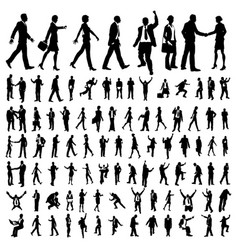 very many high quality business people silhouettes vector image vector image