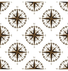 Vintage compass seamless pattern vector image vector image