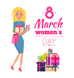 8 march womens day celebration vector image
