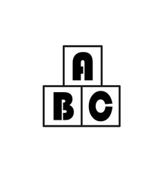 abc cubes icon vector image