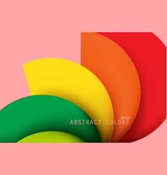 Abstract colors curved vector