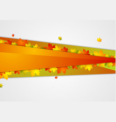 Abstract corporate background with autumn leaves vector