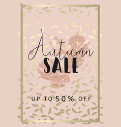 Autumn collection gold blush background vector