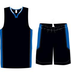 Basketball women semi racer back shirts and shorts vector