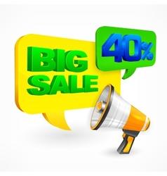 Big sale inscription vector image