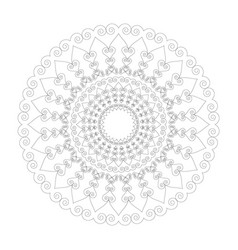 black and white circular round mandala hearts vector image