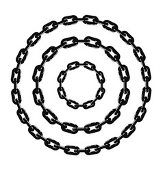 black and white metal chain vector image