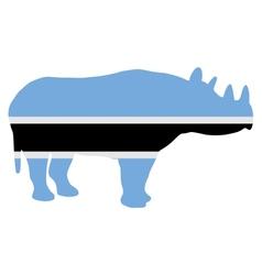 Botswana black rhino vector image